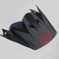 Náhradní kšilt Fox Racing Rampage Hlmt Visors Black/White OS