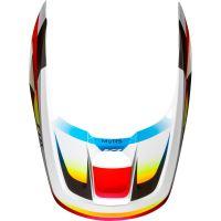 Náhradní kšilt Fox V1 Mx19 V1 Helmet Visor - Motif Red/White