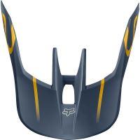Náhradní kšilt Fox V3 Mx19 V3 Helmet Visor - Kila Navy/Yellow