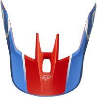Náhradní kšilt Fox V3 Mx19 V3 Helmet Visor - Kila Blue/Red