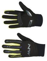 Pánské rukavice Northwave Core Full Gloves Black/Yellow Fl