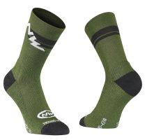 Pánské ponožky Northwave Extreme Winter High Socks Green Fo./Black