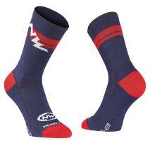 Pánské ponožky Northwave Extreme Winter High Socks Blue/Lob.Orange