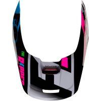 Náhradní kšilt Fox V1 Mx19 V1 Helmet Visor  - Czar Light Grey