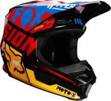 Pánská MX helma Fox V1 Czar Helmet Black/Yellow
