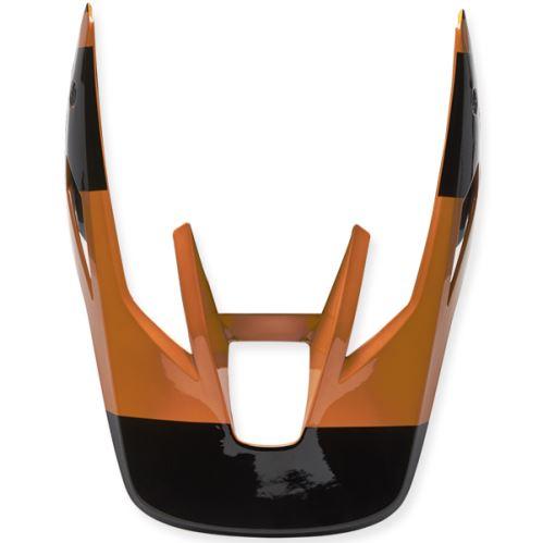 Náhradní kšilt Fox V3 Rs Helmet Visor - Riet Black/Gold