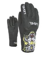 Dětské rukavice Level Race JR PK Black 7 Jr XXL