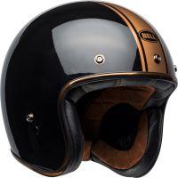 Motocyklová přilba Bell Bell Custom 500 Rally Helmet Gloss Black/Bronze XXL