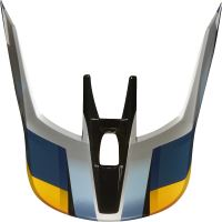 Náhradní kšilt Fox V3 Mx19 V3 Helmet Visor - Motif Blue/Silver