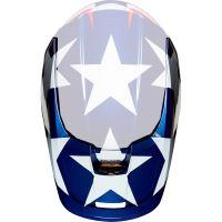Náhradní kšilt Fox V1 Mx19 V1 SE Helmet Visor - MXon White/Red/Blue