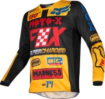 Pánský MX dres Fox 180 Czar Jersey Black/Yellow