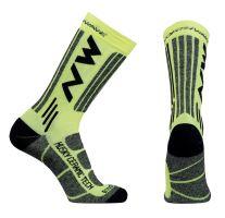Cyklo ponožky Northwave Husky Ceram.2 Socks Yellow Fluo
