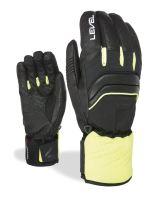 Pánské rukavice Level Ultra Black-Yellow 8.5