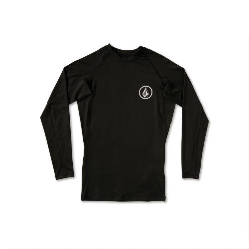 Pánský rashguard Volcom Lido Solid L/S Black
